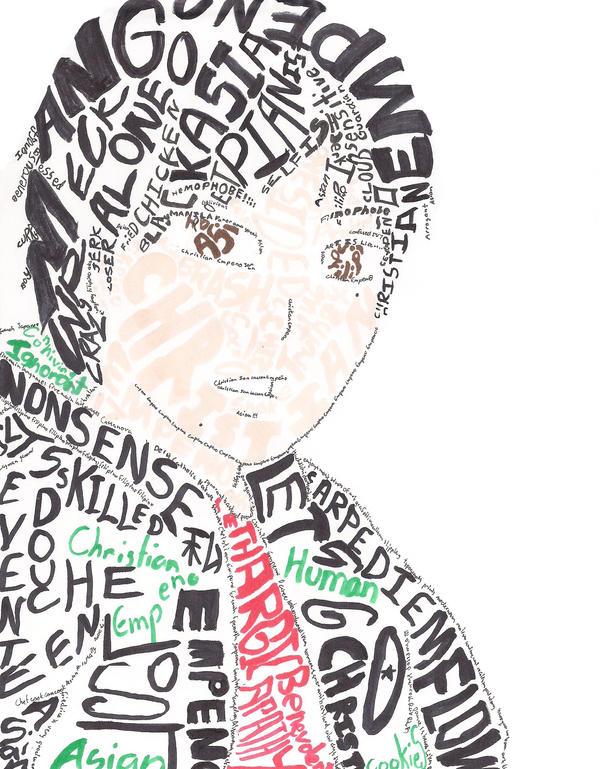 Self Portrait- Typography by Tsuchiichi