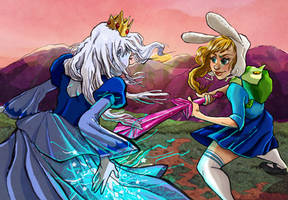 fionna vs the ice queen by julv