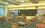 Classroom VN Background by JakeBowkett