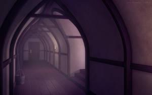 Dim Hallway by JakeBowkett
