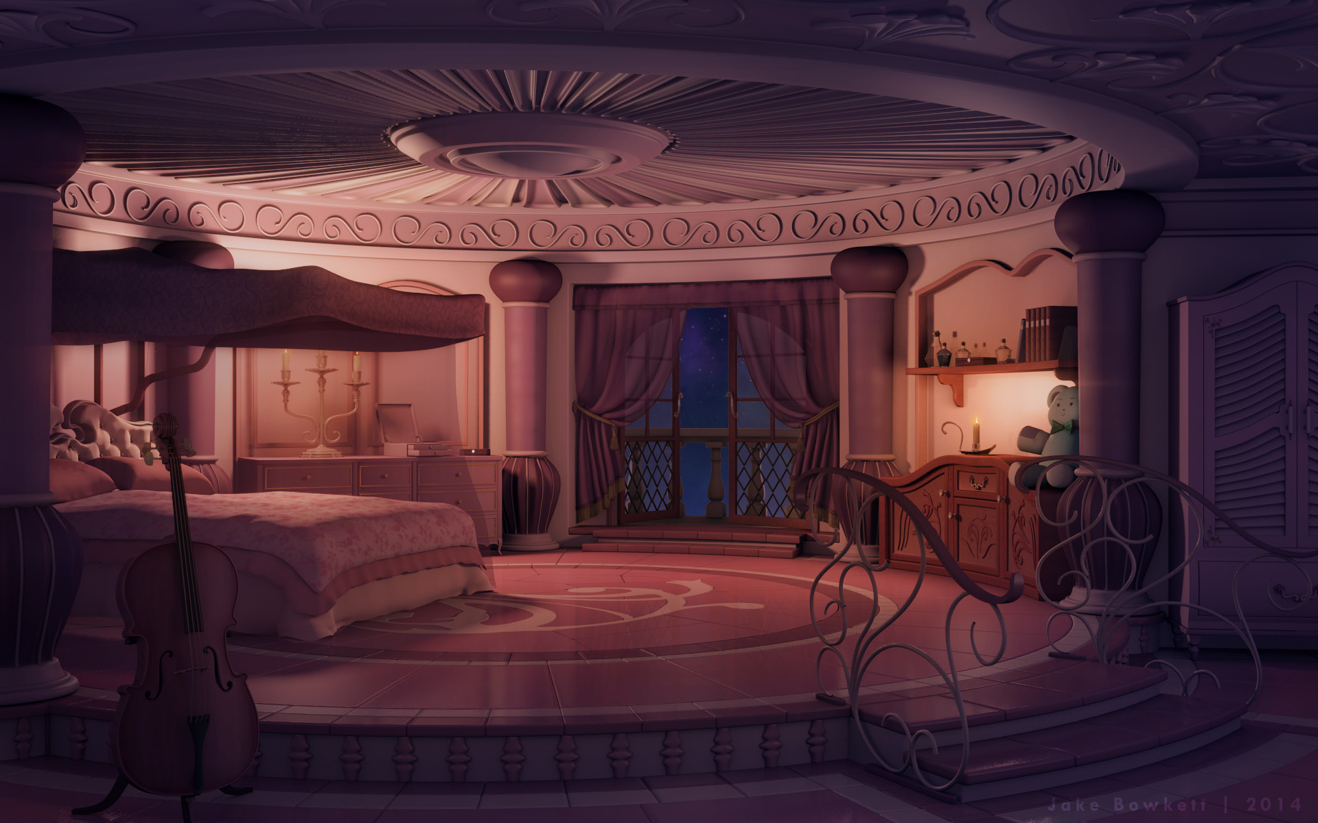 city lights wallpaper for bedroom princess s room by jakebowkett on deviantart 18467