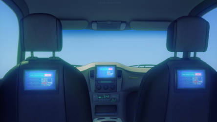 Future Taxi Interior by JakeBowkett