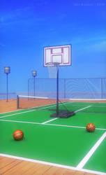 Tennis Court by JakeBowkett