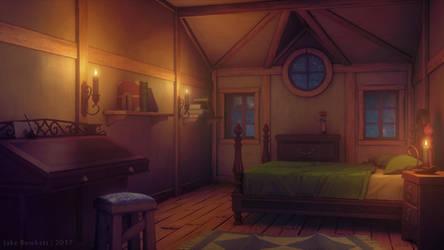 Bedroom [night] by JakeBowkett