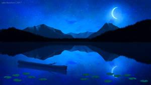 Moonlit Lake