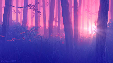 Forest Sunset by JakeBowkett