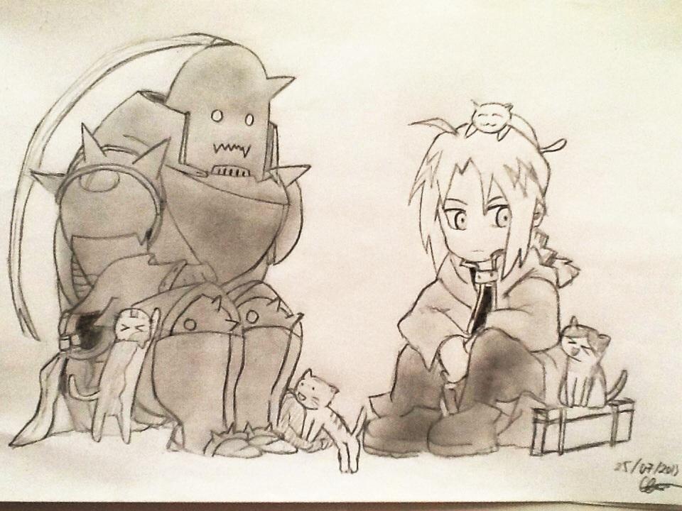 Fullmetal Alchemist Cats, Cats, Cats by SighsOnWindyDays