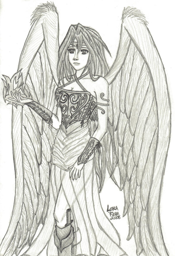 Misery 39 s fallen angel by kryptoinuyasha on deviantart for Dark angel coloring pages