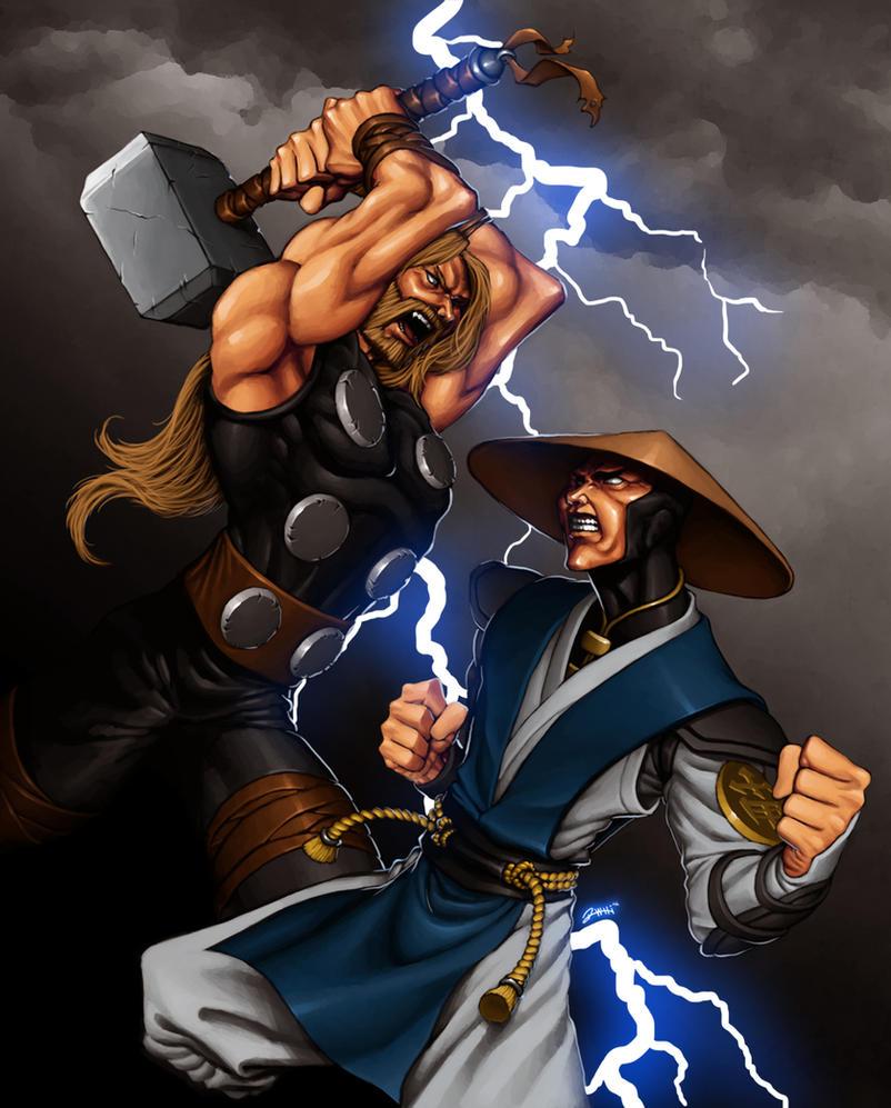 Thor Vs Raiden I Am The God Of Thunder By Enygmatycninja