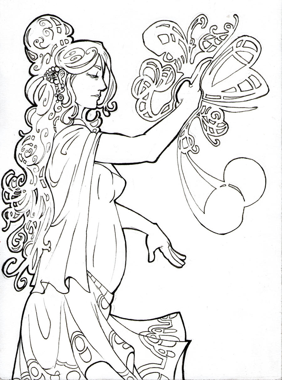 Art Nuvo Coloring Pages