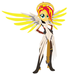Sunset Shimmer as Mercy [Overwatch]