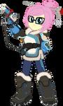 Fluttershy as Mei [Overwatch]