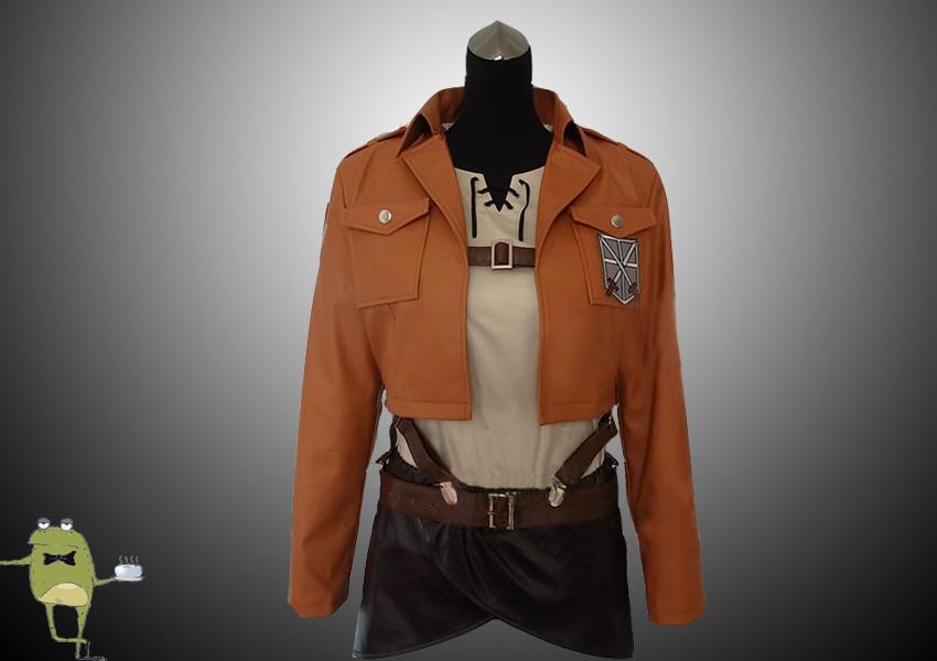 attack on titan cosplay jacket eren jaeger uniform by. Black Bedroom Furniture Sets. Home Design Ideas