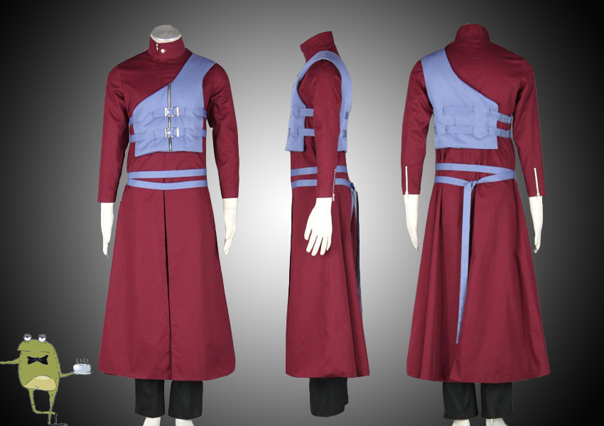 Naruto Shippuden Gaara Cosplay Costume Outfit by ...
