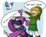 A Link Between Worlds- Link and Ravio