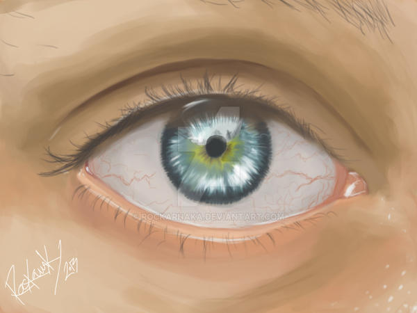 Eye Study by rockarnaka