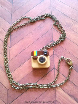 Handmade Polymer Clay Instagram Necklace!