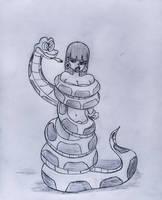 Chel in Kaa's coils