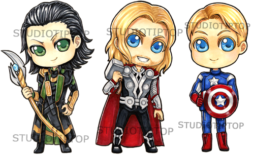 Avengers Stickers by StudioTipTop