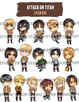 Attack on Titan Stickers