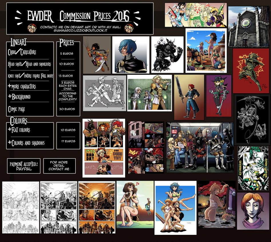 Commissions 2016 by Ewder