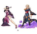 Commission: Hinata and Tsunade by Ewder