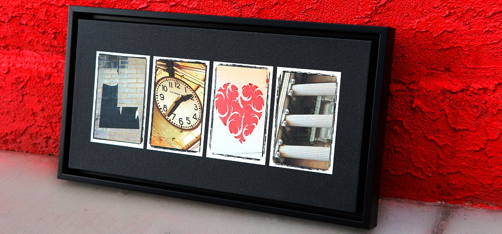 Letter Art - LOVE by photoletterart