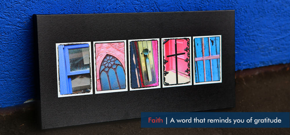 Letter Art - FAITH by whatsthewordshop.com by photoletterart
