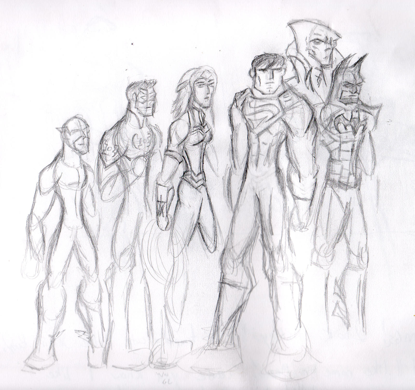 Justice League Sketch by SplendorEnt