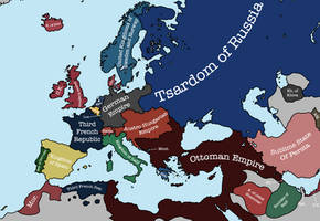 Europe in 1871, After the Treaty of Frankfurt