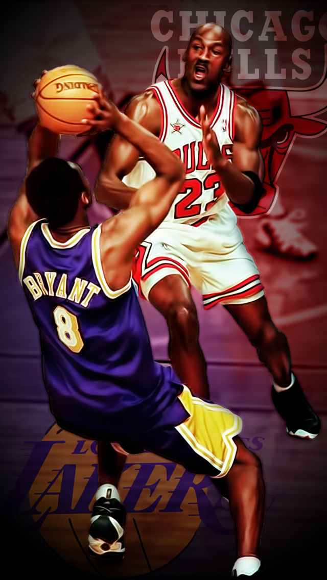 Kobe Bryant And Micheal Jordan Iphone Wallpaper By Redzero03 On