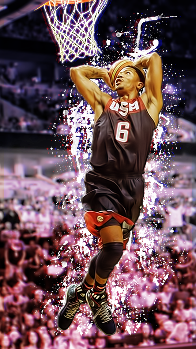 Derrick Rose Iphone Wallpaper By Redzero03