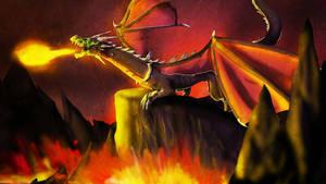 Black magma Dragon