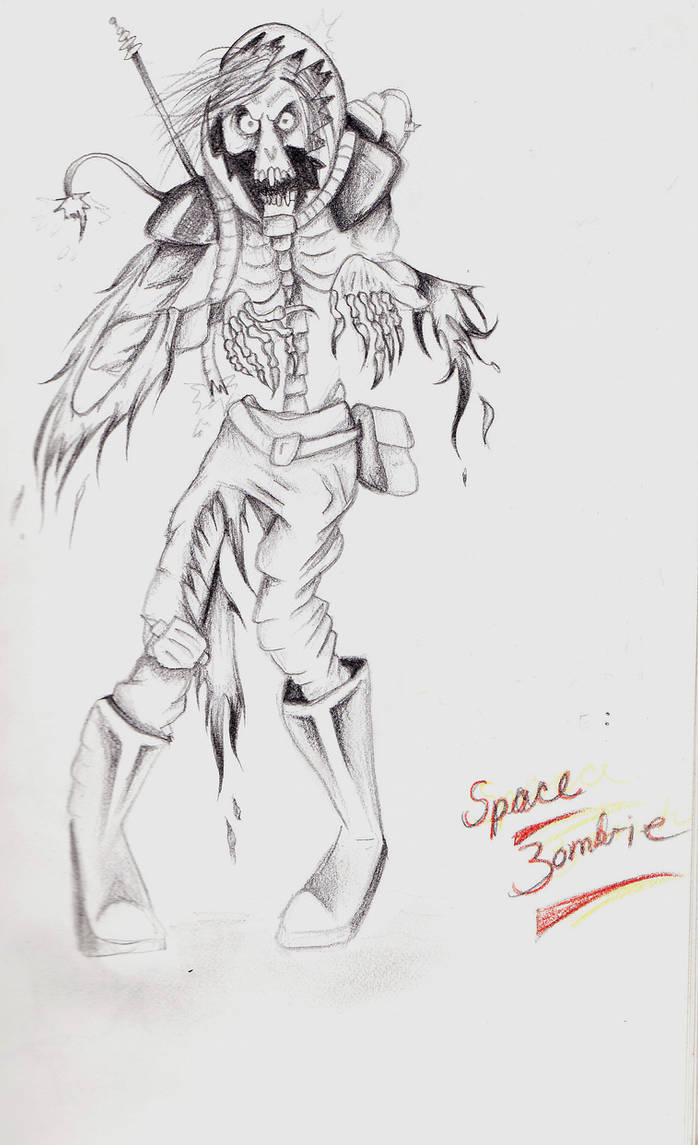 Space Zombie by Elliesmeria