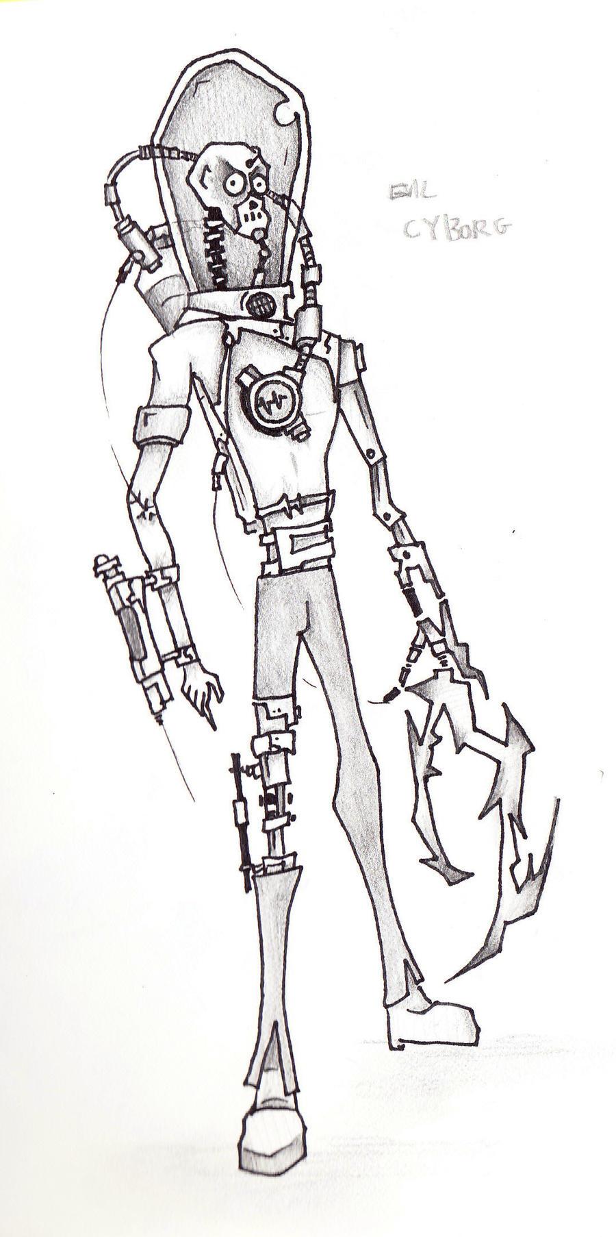 Evil Cyberbot by Elliesmeria