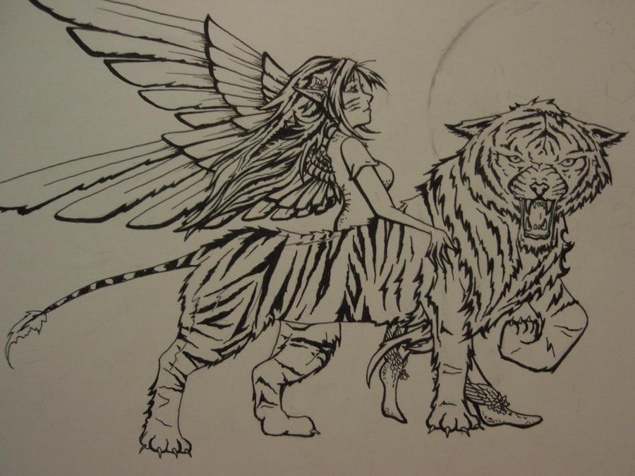 Tiger woman by Elliesmeria