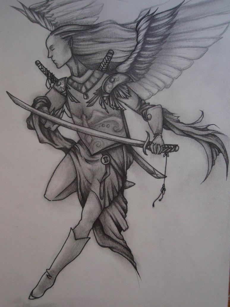 Katana Angel by Elliesmeria