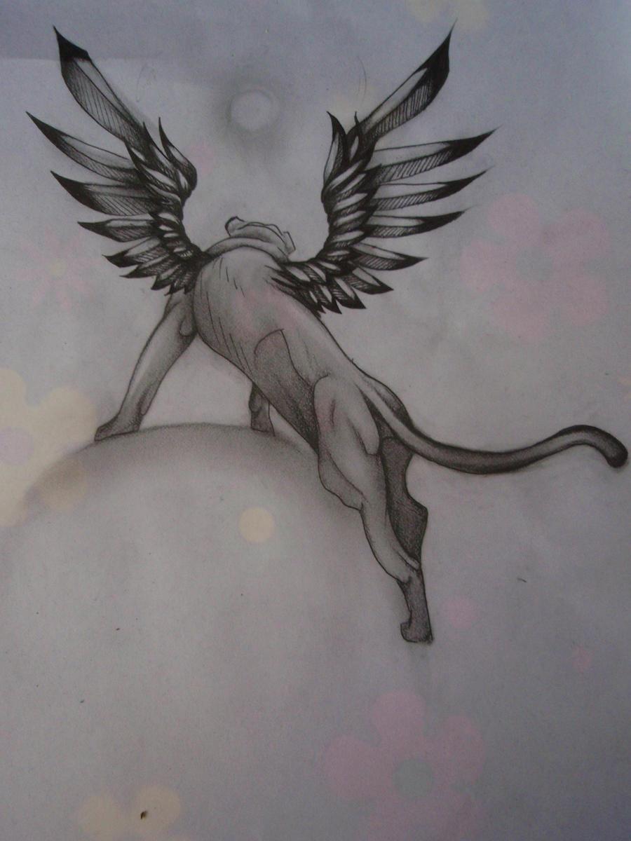 Winged Lion3 by Elliesmeria