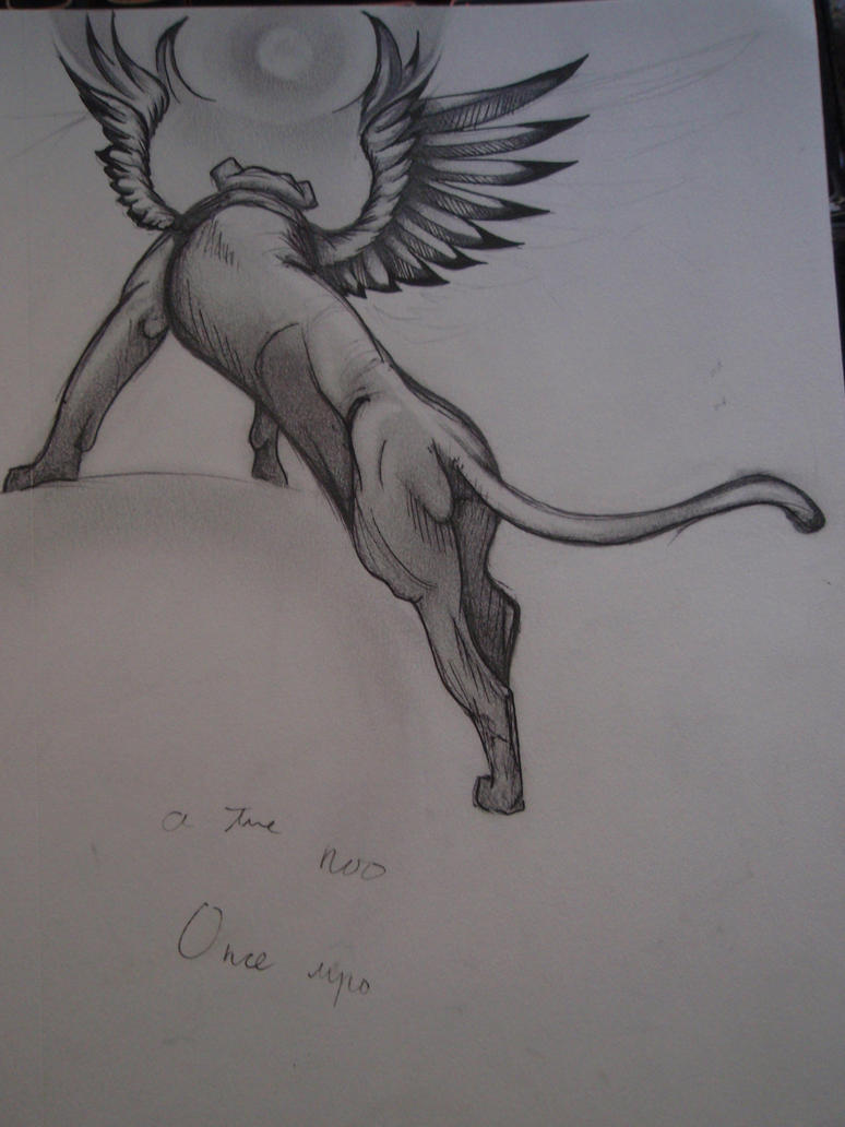Winged Lion3 sketch by Elliesmeria