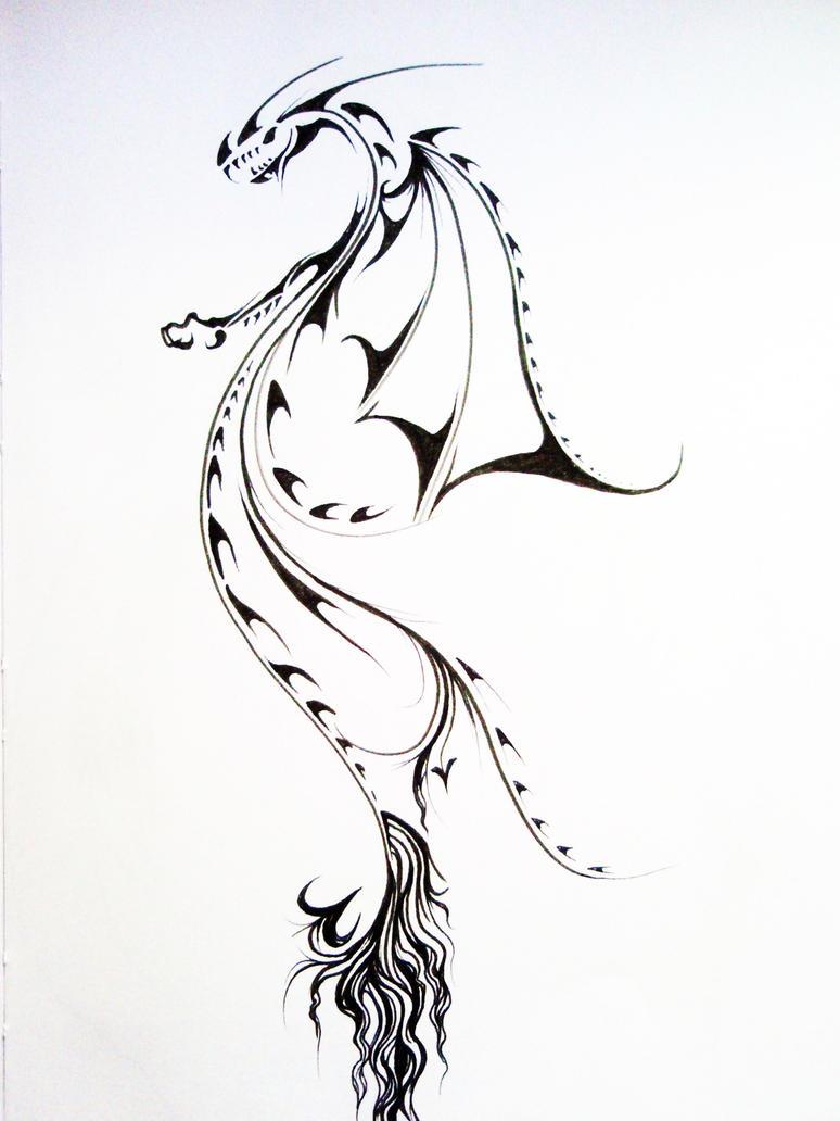 Tribal Dragon1 by Elliesmeria