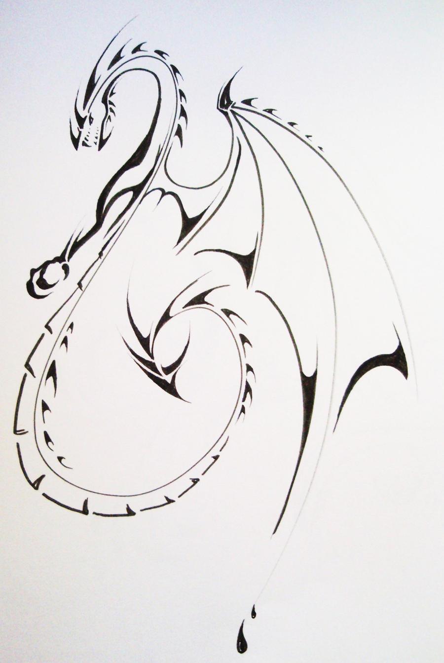 Tribal Dragon2 by Elliesmeria