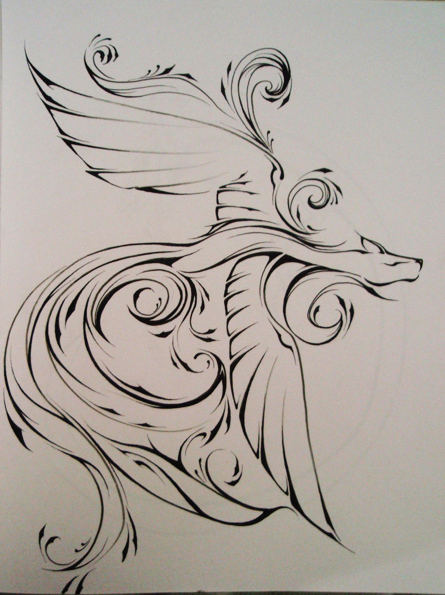 A fox spirit by Elliesmeria