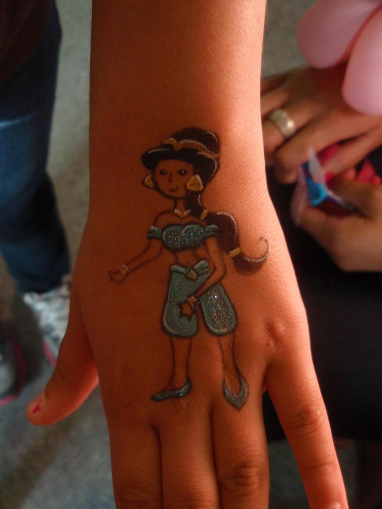 Princess Jasmine Hand Art by Elliesmeria