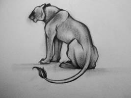 Lonely Cat by Elliesmeria