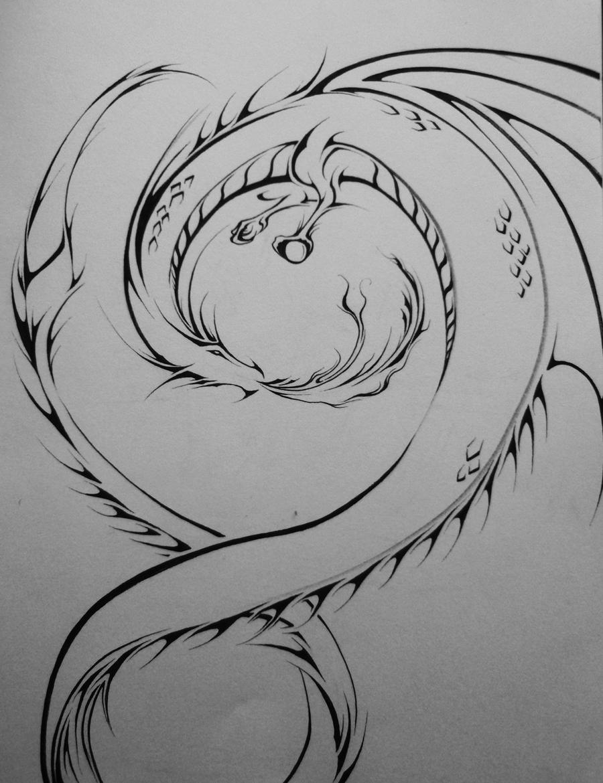 Spiral Dragon by Elliesmeria