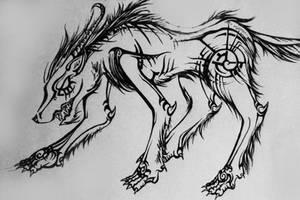 Dire Wolf by Elliesmeria