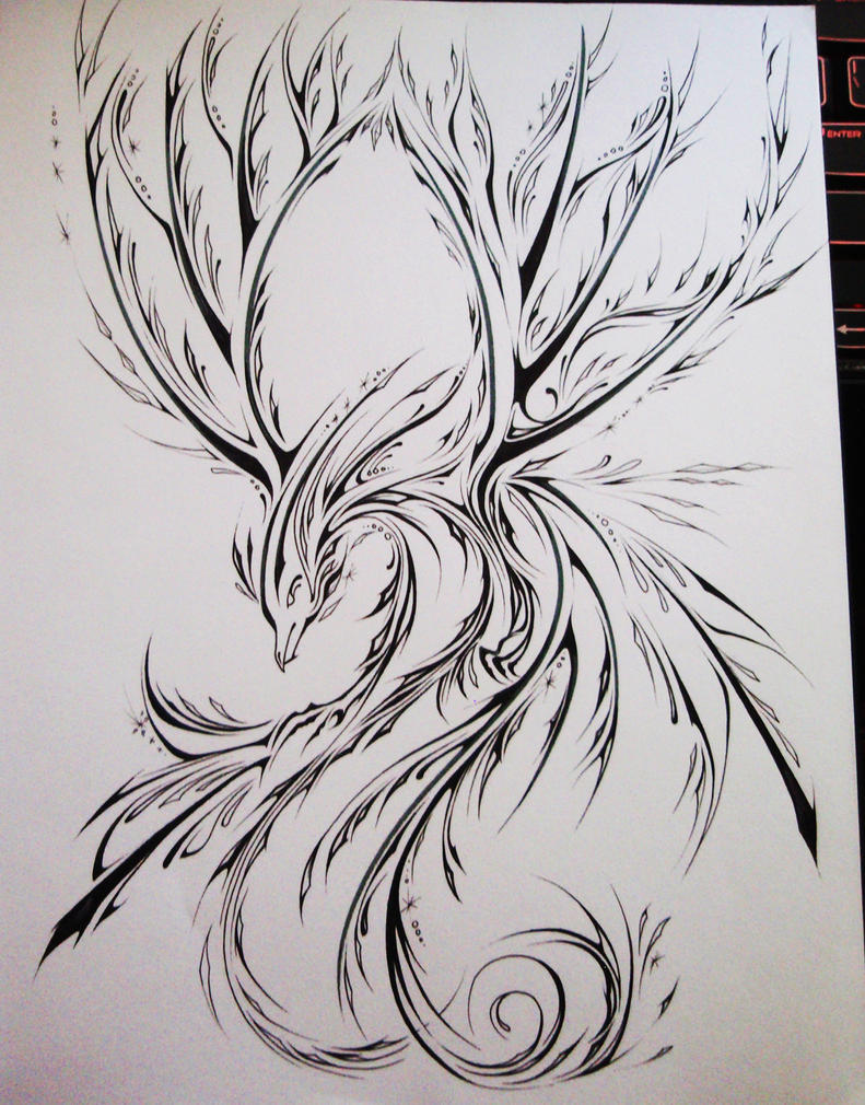 The Cryophoenix: UnColored by Elliesmeria