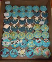 Navy Cupcakes by Elliesmeria