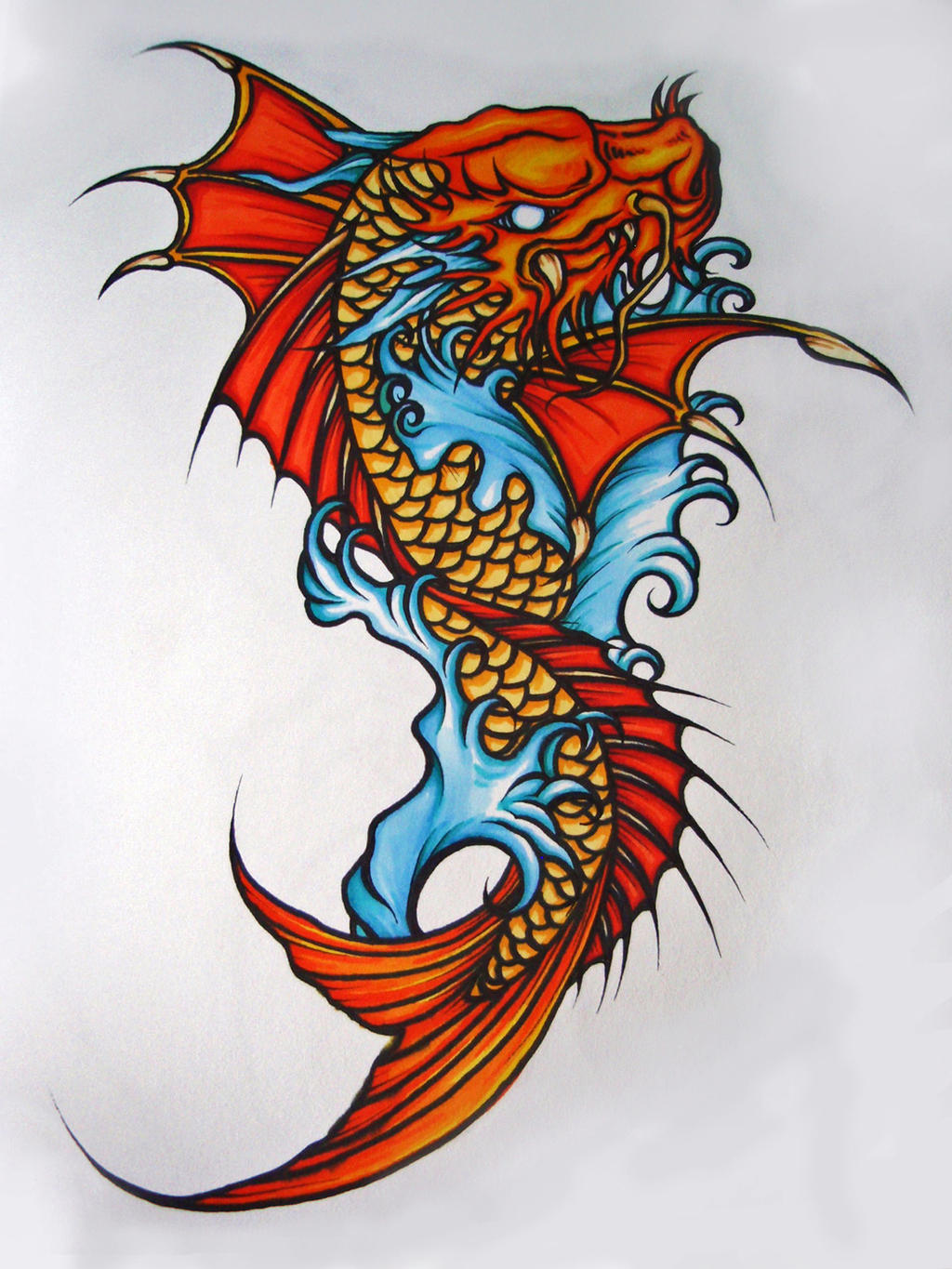 Koi Dragonfish by Elliesmeria on DeviantArt