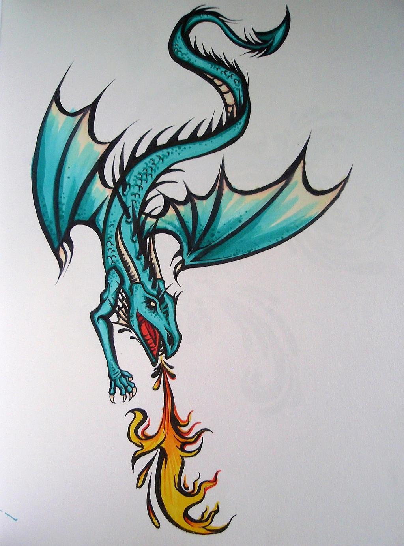 Aqua Dragon by Elliesmeria